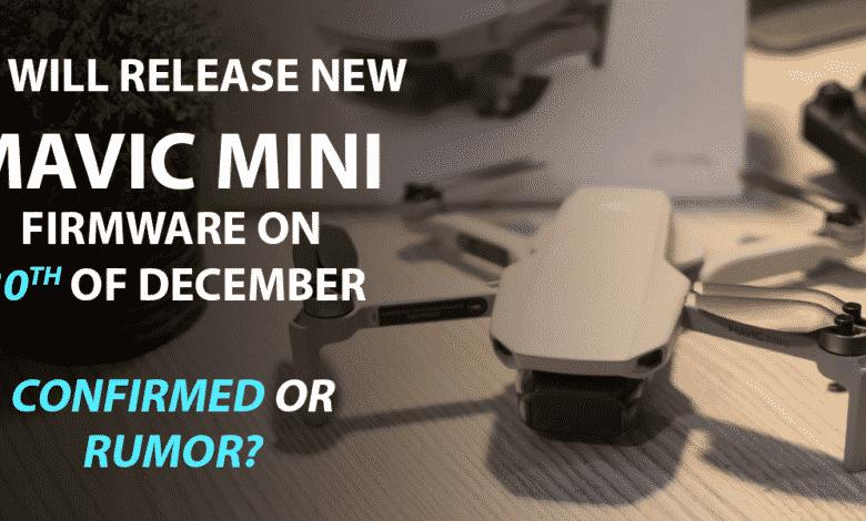 Mavic Mini Unlock available from 30 December 2019